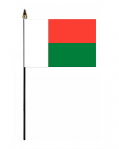 Madagascar Country Hand Flag - Small.